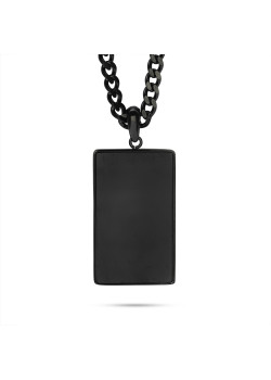 Stainless steel necklace, black