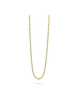 18ct gold plated necklace, ball chain