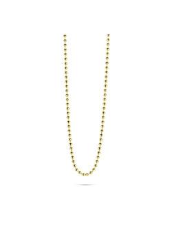 Halsketting in 18kt plaqué goud, bolletjesketting