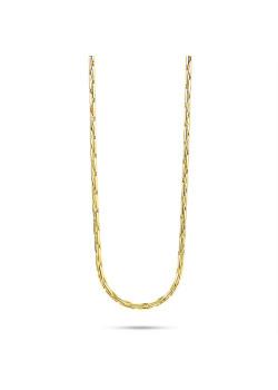 Halsketting in 18kt plaqué goud, ronde schakelketting