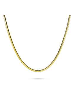 Collier en plaqué or 18ct, maillon serpent, 2,5 mm