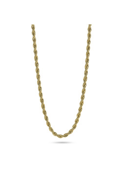 Halsketting in 18kt plaqué goud, touw ketting