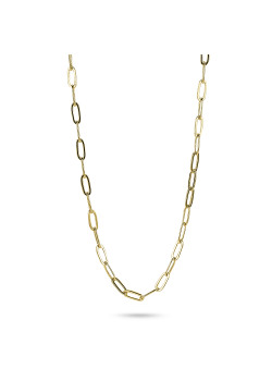 18ct gold plated necklace, oval links, 3 mm