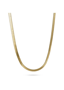 18ct gold plated necklace, flat snake chain
