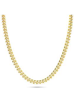 Halsketting in 18kt plaqué goud, gourmet ketting