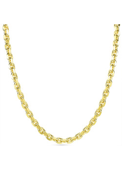 Halsketting in 18kt plaqué goud, forcat ketting
