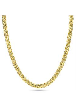 Halsketting in 18kt plaqué goud, palmier schakel