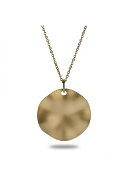 Halsketting in goudkleurig edelstaal, ronde, mat