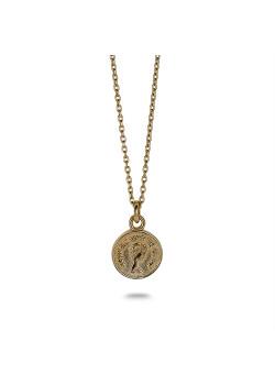 Collier en argent plaqué or 18ct, petite pièce