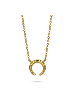 Collier en plaqué or 18ct, corne