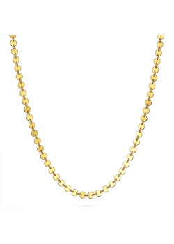 18ct gold plated silver necklace, small rounds