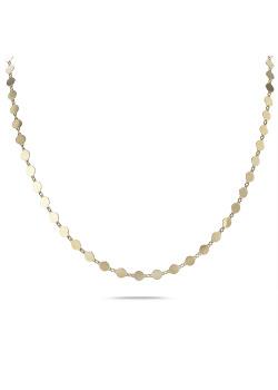 Halsketting in 18kt verguld zilver, schijfjes, 4 mm