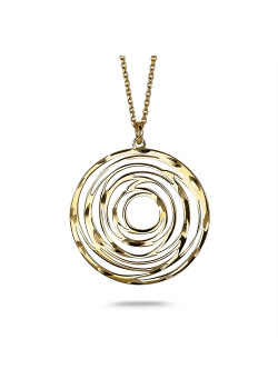 18ct gold plated silver necklace, sun