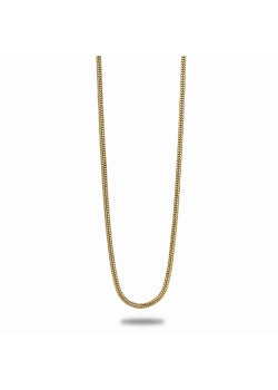 18ct gold plated necklace, snake chain, 40 cm