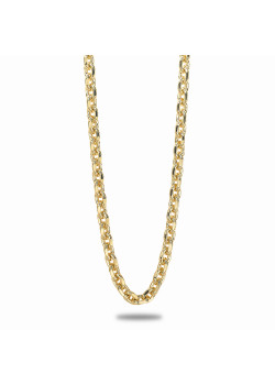 18ct gold plated necklace, forcat chain