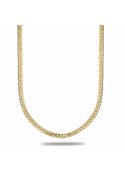 18ct gold plated necklace, english link