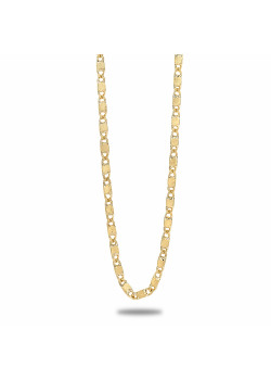 18ct gold plated necklace, fancy link