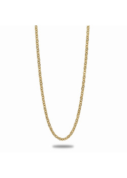 18ct gold plated necklace, oval link, 50 cm