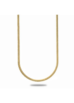 18ct gold plated necklace, snake chain, 60 cm