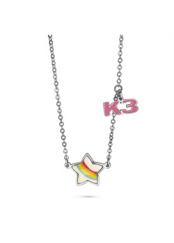 K3 collection, necklace with rainbow star and K3