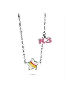 K3 collectie, halsketting met regenboog sterretje en K3