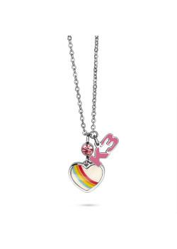 K3 collectie, halsketting met regenboog hartje en K3