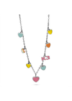 K3 collection, necklace with 7 coloured hearts and K3
