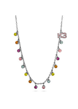 K3 collection, necklace with coloured stones and K3