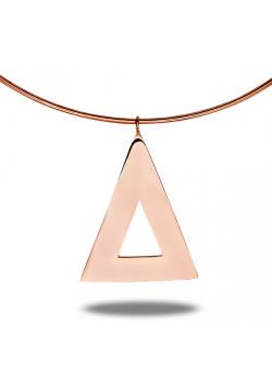 halsketting in rosé edelstaal, driehoek
