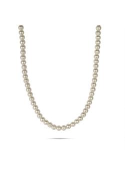 Korte high fashion halsketting, parels 4 mm