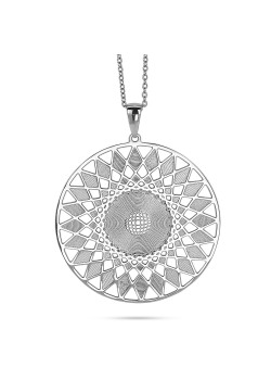 Stainless steel necklace, sun