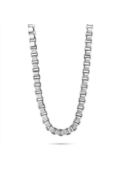 Stainless steel necklace, square forcat