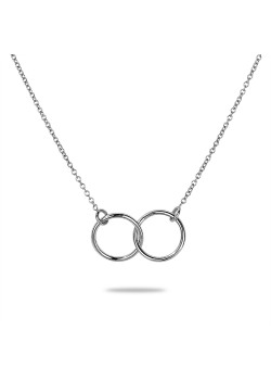Halsketting in zilver, 2 cirkels
