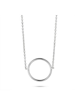 Halsketting in zilver, cirkel 17 mm