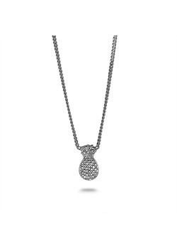 Silver necklace, pineapple