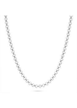 Halsketting in zilver, schakelketting met rondjes
