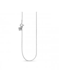 Silver necklace, gourmet link