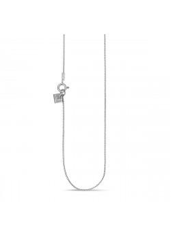 halsketting in zilver, gourmet ketting van 45 cm