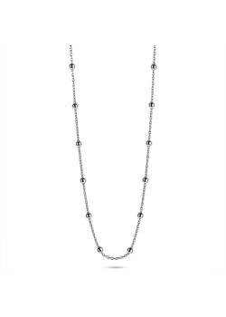 Halsketting in zilver, bolletjesketting, 2,5 mm