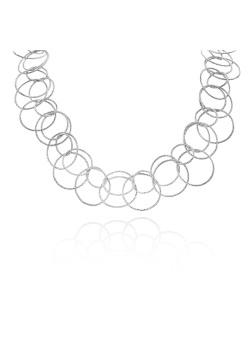 High fashion halsketting, gebeitelde dubbele cirkels