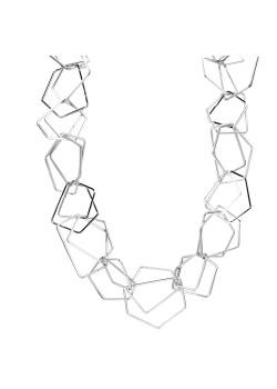 High fashion halsketting, dubbele geometrische schakel