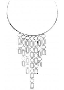 High fashion halsketting, choker, hangende geometrische motieven