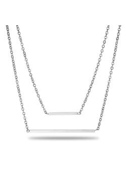 halsketting in edelstaal, staafjes van 15 en 35 mm