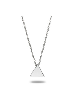 stainless steel necklace, small triangle