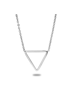 stainless steel necklace, open triangle