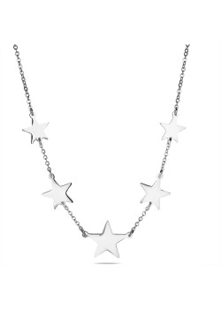 Halsketting in edelstaal, sterren