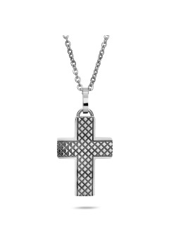 Stainless steel necklace, cross