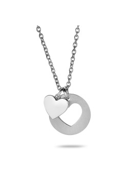 Stainless steel necklace, small heart