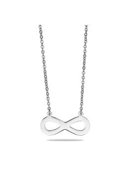 halsketting in edelstaal, infinity