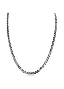 Halsketting in edelstaal, palmier schakel